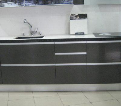 Cocina con uñero Aluminio vista frontal parte Baja