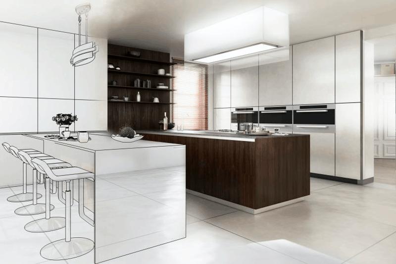 instalar muebles de cocina suspendidos